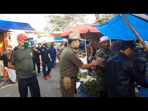 Banyak Yang Tidak Patuh, Satpol PP Lambar Lakukan Sidak di Pasar Liwa