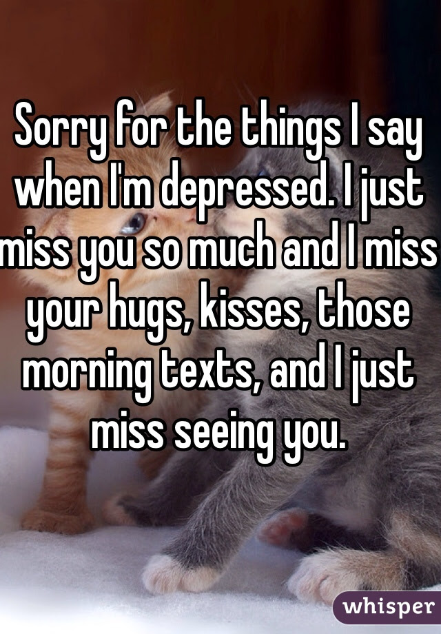 Sorry For The Things I Say When Im Depressed I Just Miss You So Much