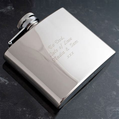 Engraved Stainless Steel Hip Flask   GettingPersonal.co.uk