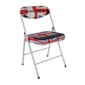 tabouret et chaise de londres avec le drapeau anglais deco londres. Black Bedroom Furniture Sets. Home Design Ideas