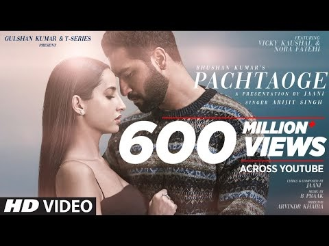 Pachtaoge Lyrics Download HD Song | Arijit Singh | Vicky Kaushal, Nora Fatehi