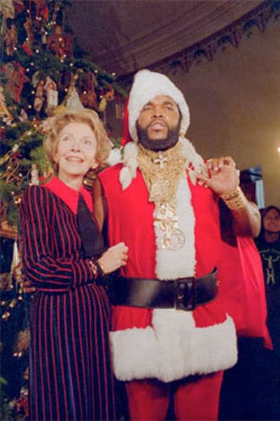 Nancy Regan and Mr. T