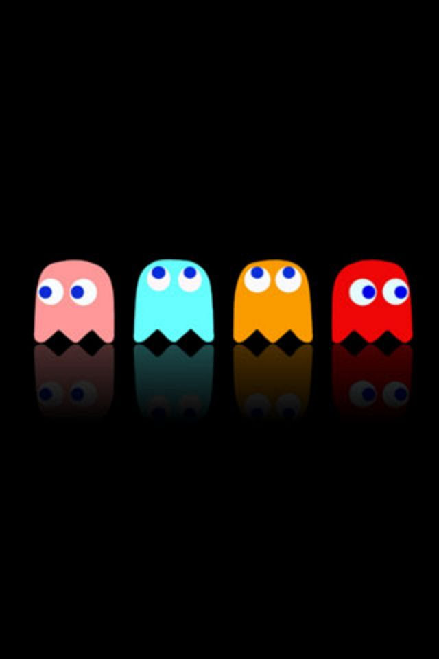 Pacman Ghost iPhone Wallpaper HD