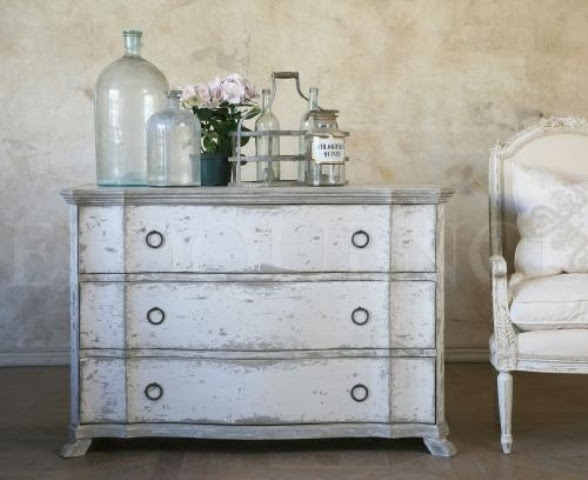 38 Adorable White Washed Furniture Pieces For Shabby Chic And ...