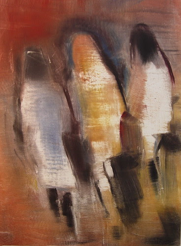 "Speed of Life Study, 30""x22"" monotype 2005"