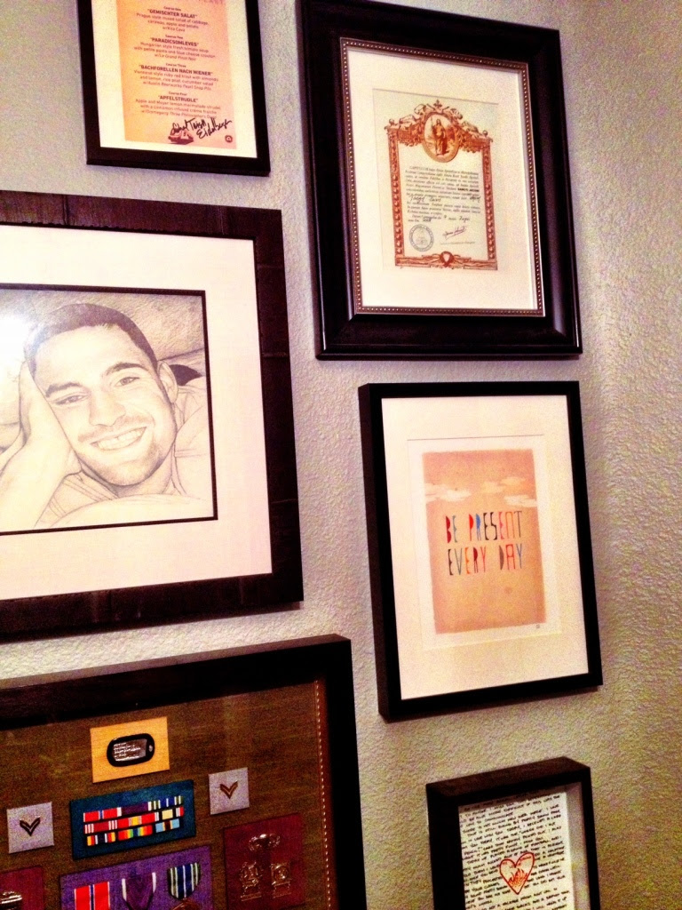 The 20th Feast Menu, signed and hanging among my favorite things!