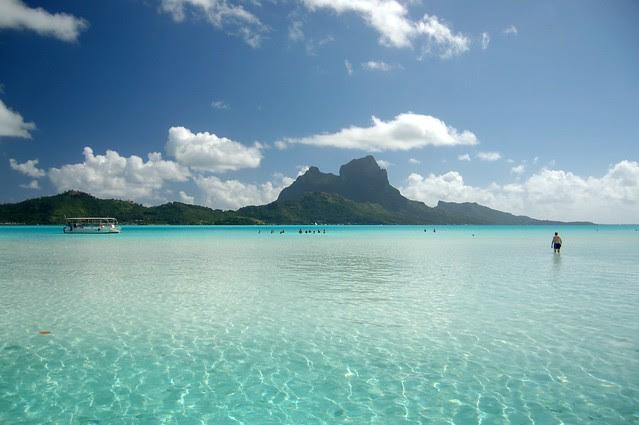 Paradise Bora Bora lagoon
