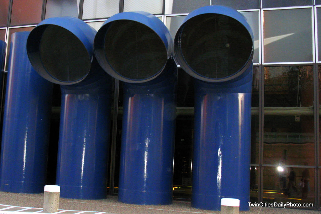 These air tubes can be found outside of Orchestra Hall in downtown Minneapolis.