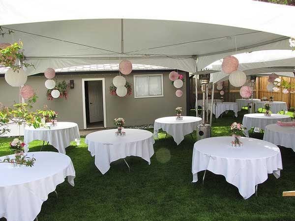 Simple backyard wedding reception ideas