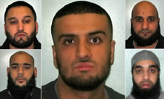 A gang of racist thugs were jailed for a combined total of more than 36 years