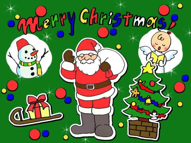 クリスマスカード イラスト 着色 無料 イラスト素材 こども