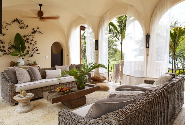 Outdoor Furniture Layout. Interior Design by Beth Webb Interiors.