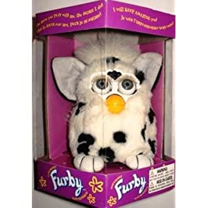 Furby Model 70-800 Dalmatian White with Black Spots