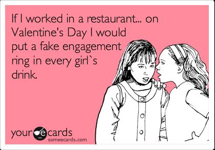 Valentine joke, Valentine's