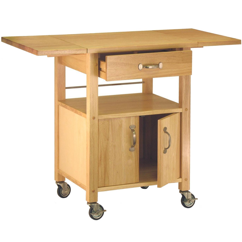 alt_wood kitchen cart with drawer_1