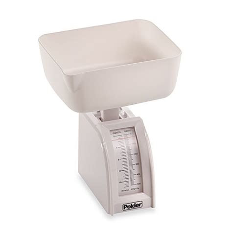 buy polder diet utility food scale  white  bed bath
