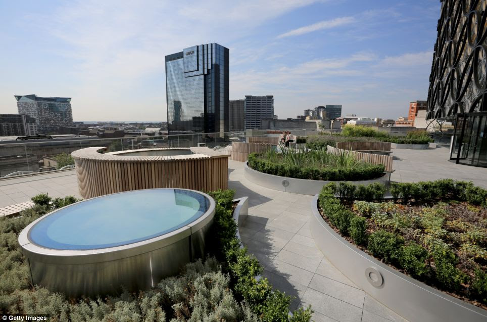 Green: The library will also feature an outdoor roof terrace garden