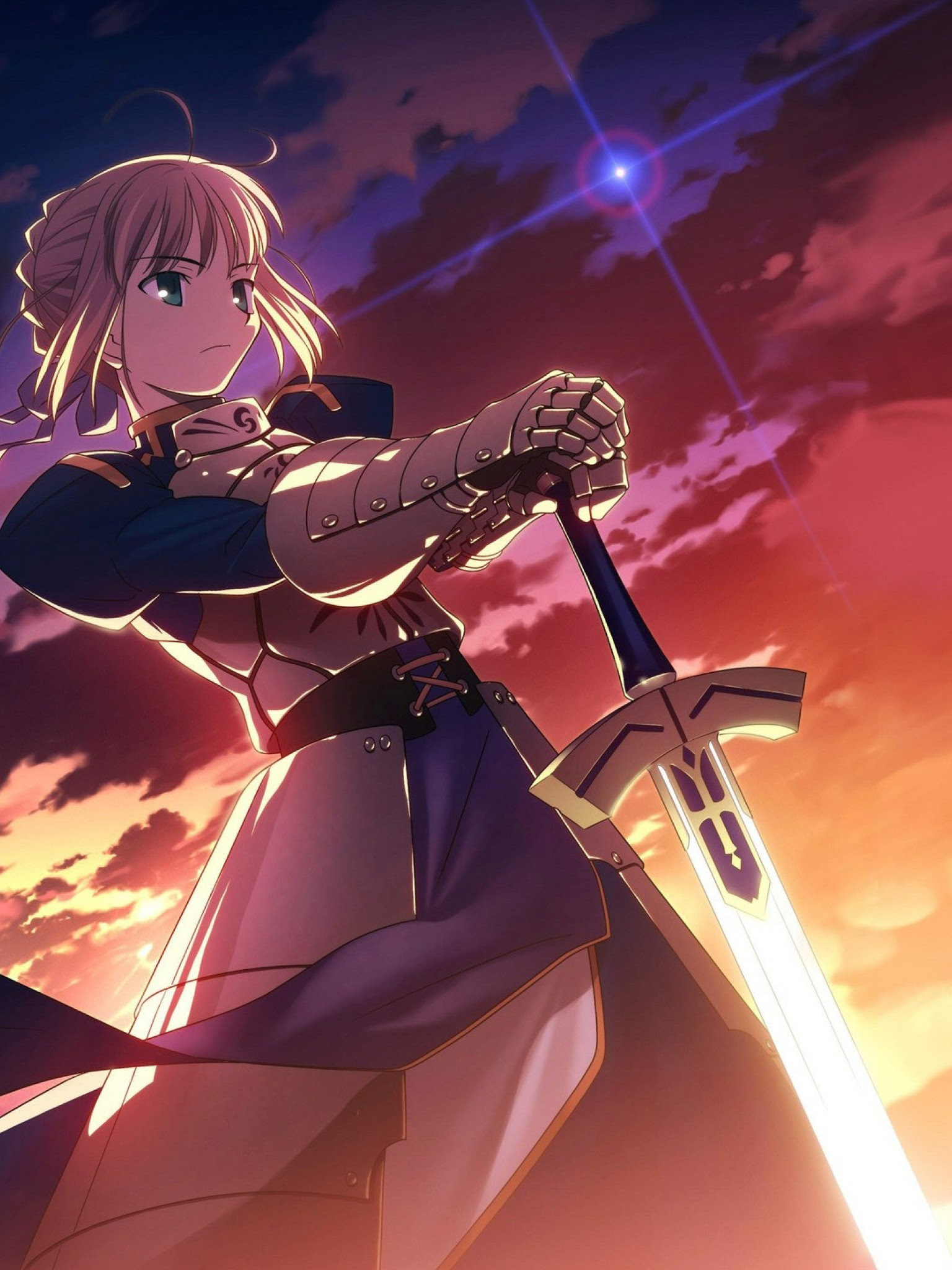 Fate Stay Night Saber Hd Wallpaper For Desktop And Mobiles Retina