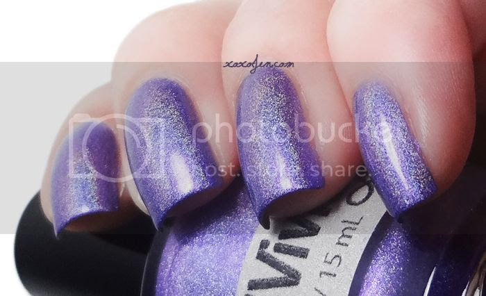 xoxoJen's swatch of Vivid Lacquer Clusterduck