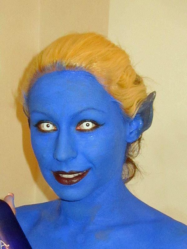 Kali Makeup in Progress