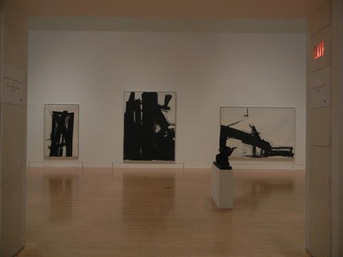 DSCN8777 _ Black Iris, 1961 (middle), Minotor, 1956 (right), Franz Kline (1910-1962), MOCA