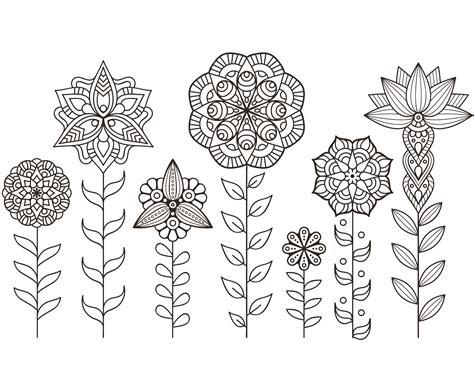 dessin  imprimer de mandala fleurs automne artherapieca