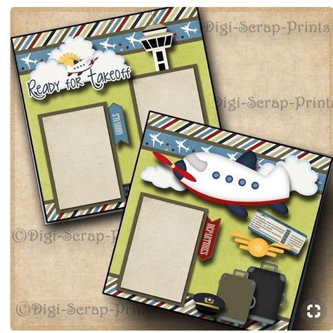 Ready for take off   Scrap booking   Vacation scrapbook