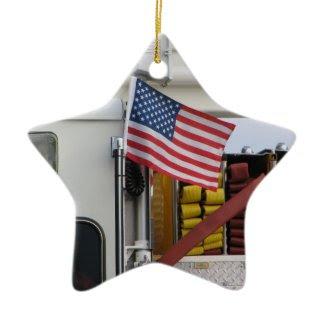 Patriotic Fire Truck ornament