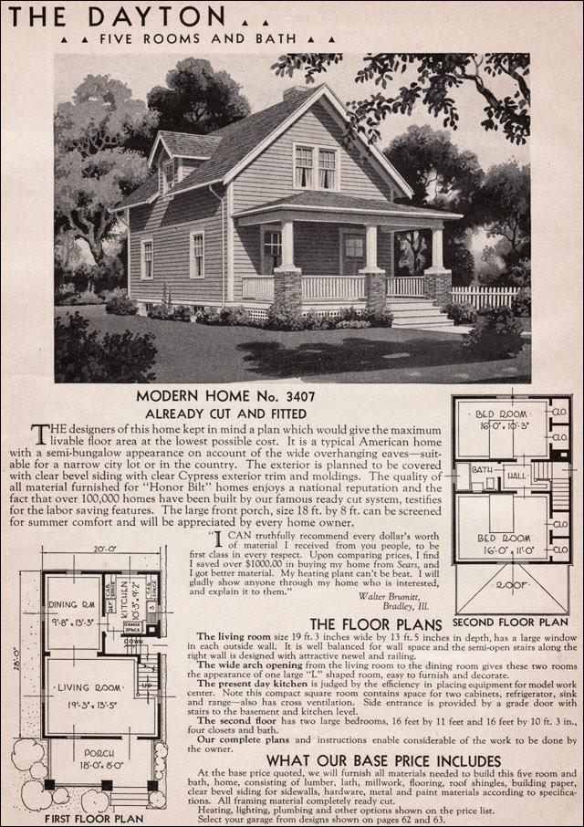 1936 Dayton Kit Home - Sears Roebuck - 20th Century ...