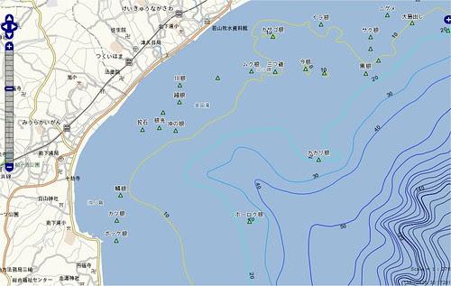 釣りポイント(神奈川県、三浦半島、津久井浜)