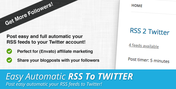 RSS To Twitter PHP Script