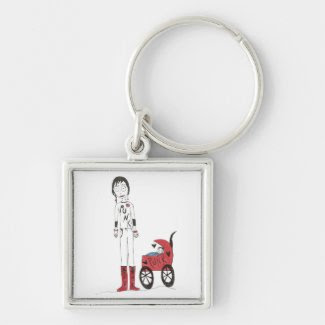 Creepy New Mom Key Chains