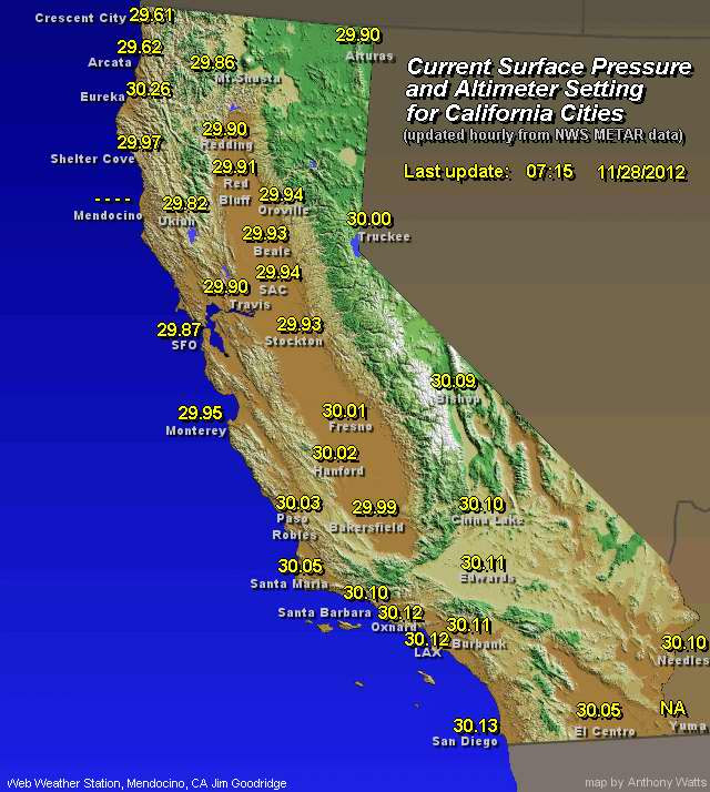 Weather Map California - CYNDIIMENNA on