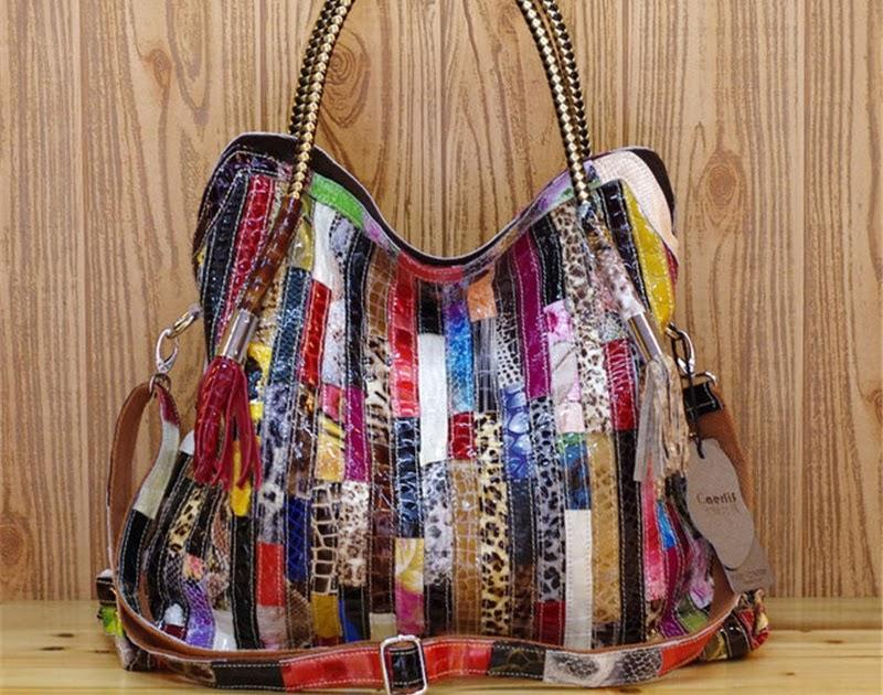 2be2060c7683d Kaufen Billig Frauen Leder Handtaschen Schulter Crossbody Taschen Aus  Echtem Für Damen Tote Tasche Bunte Quaste Schlange Preise Online