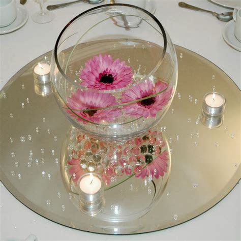 Clear Mirror Base for Centerpieces, Round, Square   eBay