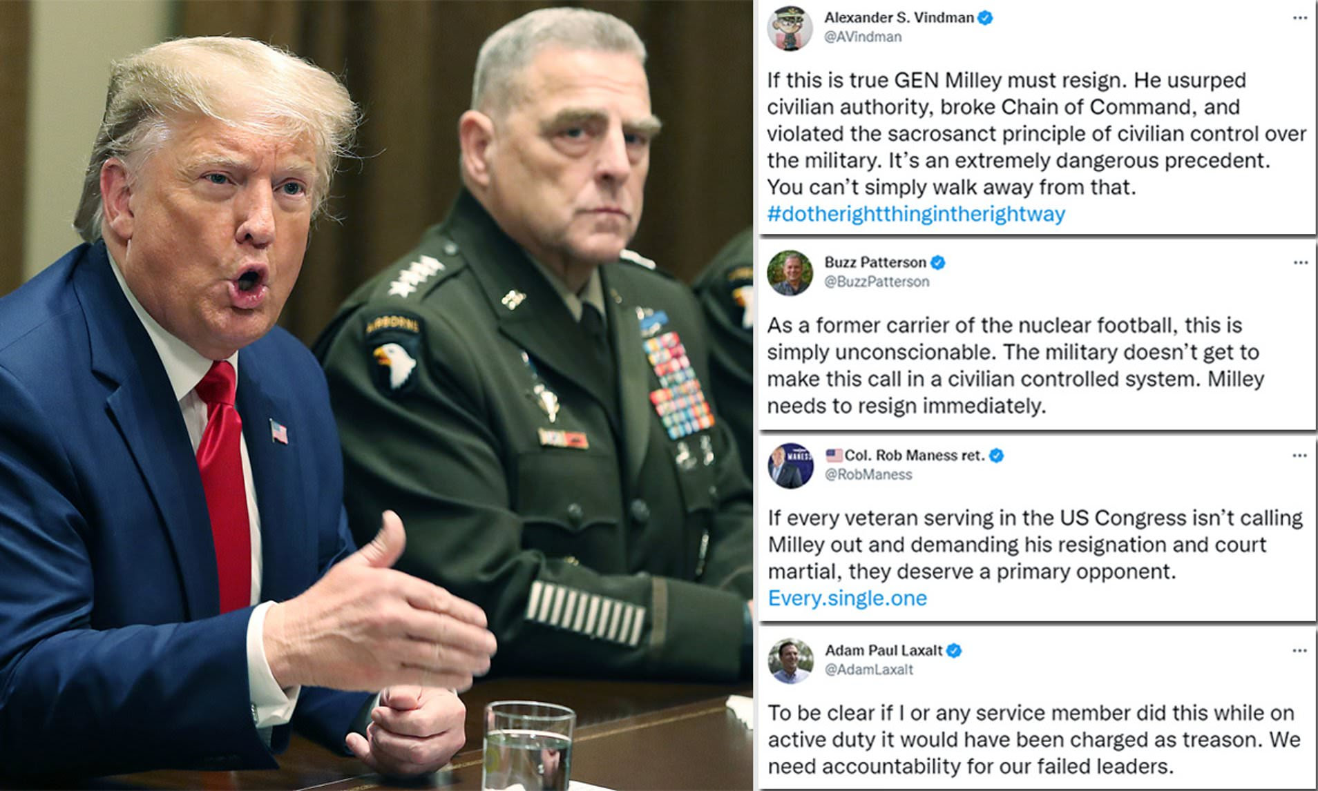 'You can't walk away from that': Alexander Vindman leads ex-military calls for Gen. Milley to resign