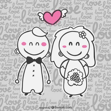 Wedding card cartoon invitation Vector   Free Download