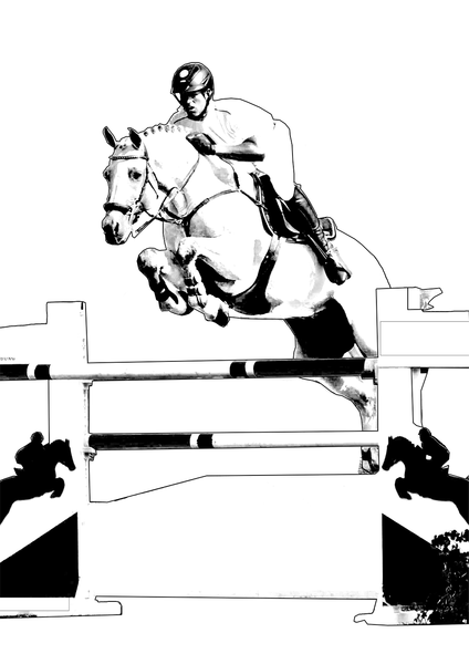 ausmalbilder pferde mit reiterin springend  psvwe artikel