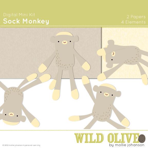 Sock Monkey Mini Kit