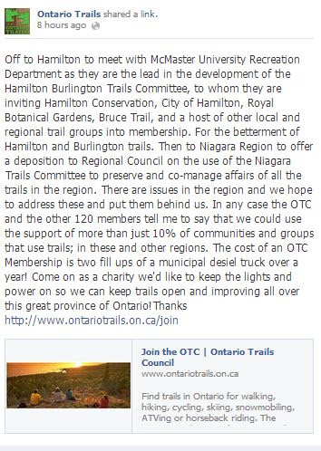 mcmaster, hamilton and burlington trails committee