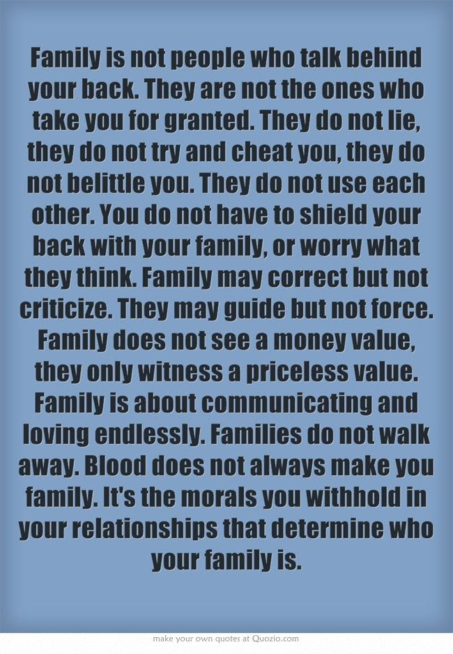 Quotes About Family Having Your Back 41 Quotes