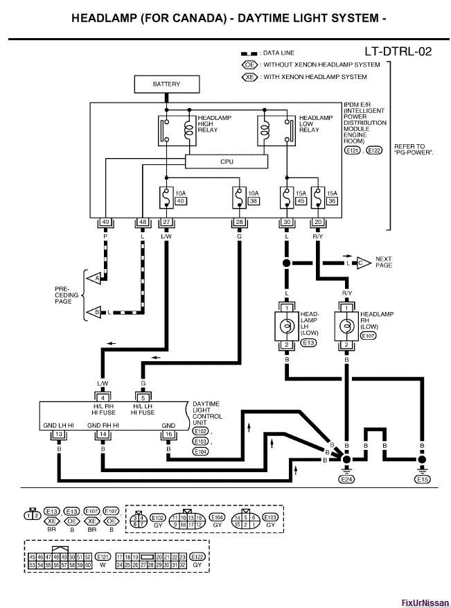 2013 Nissan Altima Headlight Wiring Schematic Wiring Diagrams Page Technician Technician Passaggimag It