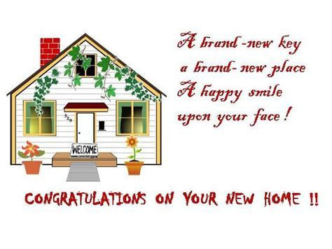 Warm Greetings On Getting A New Home. Free New Home eCards
