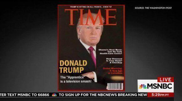 Trump y una falsa portada de TIME