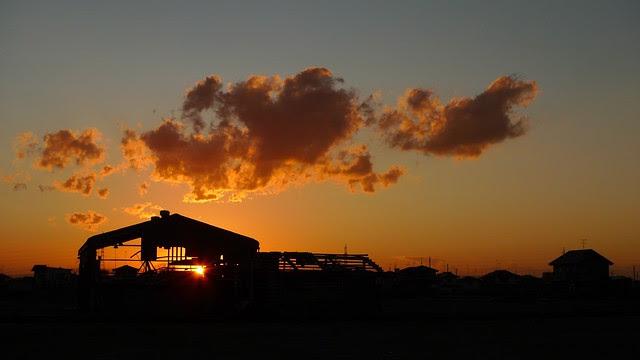 Sunset over Ishinomaki