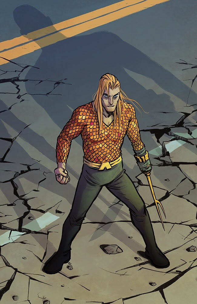 Check out classic hook-hand Aquaman by Becky Cloonan, and click to see more comic book art.