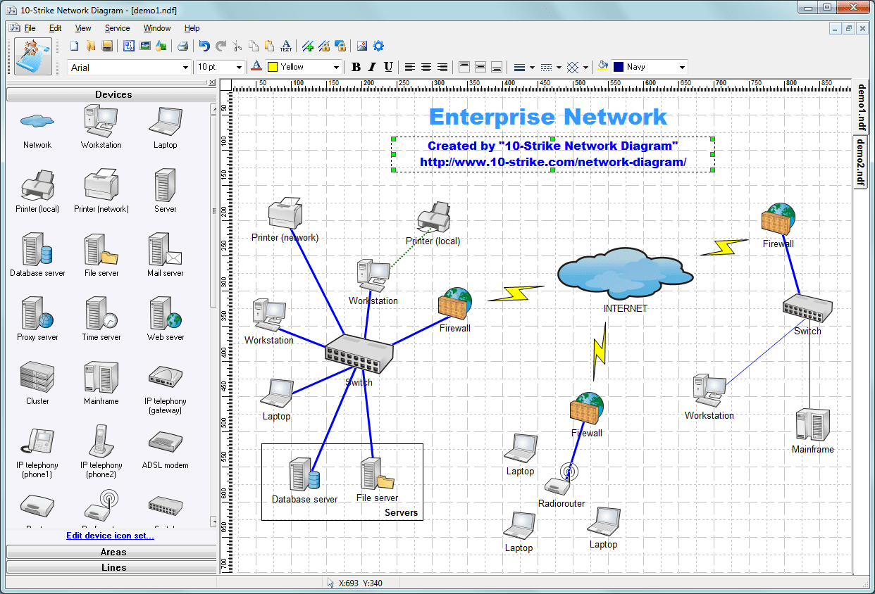 10-Strike Network Diagram - Software for Creating Topology ...