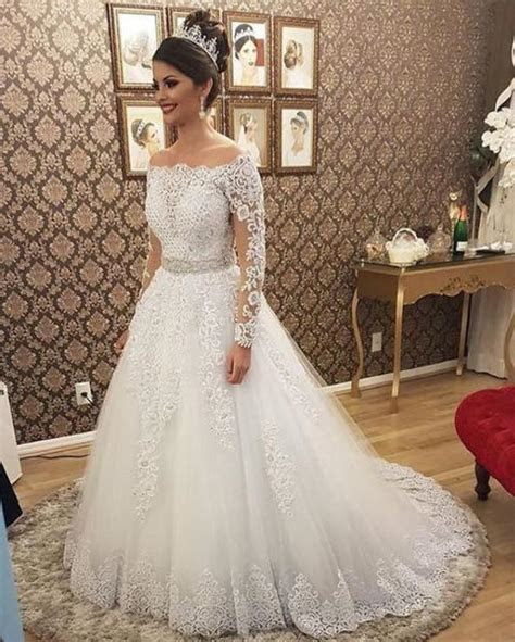 2 in 1 A line Appliqued Wedding Dress,Bridal Dresses with
