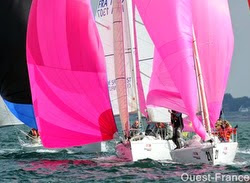 J/80s sailing SPI Ouest France regatta