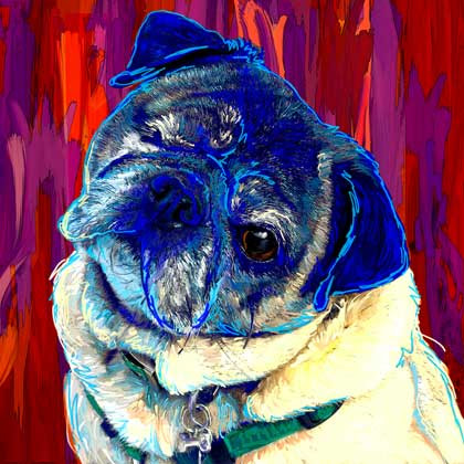 original pug art